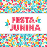 Festa Junina illustration - Brazil june festival. Festa Junina illustration - traditional Brazil june festival party - Midsummer holiday. Carnival background Royalty Free Stock Images