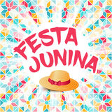 Festa Junina illustration - Brazil june festival. Festa Junina illustration - traditional Brazil june festival party - Midsummer holiday. Carnival background Royalty Free Stock Photo