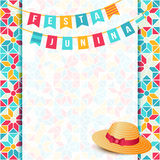 Festa Junina illustration - Brazil june festival. Festa Junina illustration - traditional Brazil june festival party - Midsummer holiday. Carnival background Royalty Free Stock Photography