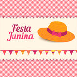 Festa Junina illustration - Brazil june festival Stock Images