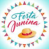Festa Junina illustration - Brazil june festival. Festa Junina illustration - traditional Brazil june festival party - Midsummer holiday. Vector Carnival Royalty Free Stock Image