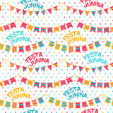 Festa Junina illustration - Brazil june festival. Festa Junina illustration - traditional Brazil june festival party - Midsummer holiday. Vector illustration Royalty Free Stock Photo