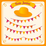 Festa Junina illustration - Brazil june festival. Festa Junina illustration - traditional Brazil june festival party - Midsummer holiday. Vector illustration Royalty Free Stock Images
