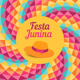 Festa Junina illustration - Brazil june festival. Festa Junina illustration - traditional Brazil june festival party - Midsummer holiday. Vector illustration Stock Photography