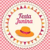 Festa Junina illustration - Brazil june festival. Festa Junina illustration - traditional Brazil june festival party - Midsummer holiday. Vector illustration Royalty Free Stock Photos