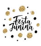 Festa Junina illustration traditional Brazil June festival. Festa Junina illustration traditional Brazil June festival party. Vector illustration of lettering Stock Images