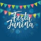 Festa Junina illustration traditional Brazil June festival. Festa Junina illustration traditional Brazil June festival party. Vector illustration of lettering Royalty Free Stock Images