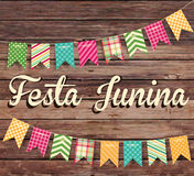 Festa Junina illustration - traditional Brazil June festival party. Vector illustration. Latin American holiday Stock Photos