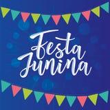 Festa Junina illustration traditional Brazil June festival. Festa Junina illustration traditional Brazil June festival party. Vector illustration of lettering Stock Photo