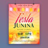 Festa junina invitation card design Royalty Free Stock Photo