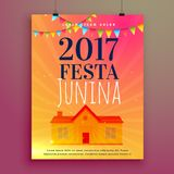 Festa junina invitation card flyer design Royalty Free Stock Photography