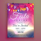 Festa junina invitation poster design Royalty Free Stock Photo