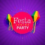 Festa junina june party festival background. Vector Royalty Free Stock Photos