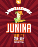 Festa Junina (June party) marketing design. Stock Image
