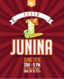 Festa Junina (June party) marketing design. Stock Image