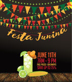 Festa Junina (June party) marketing design. Royalty Free Stock Image