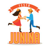Festa Junina (June party) marketing design. Stock Photos