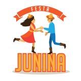 Festa Junina (June party) marketing design. Stock Photos
