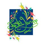Festa junina kartka z pozdrowieniami Obrazy Royalty Free