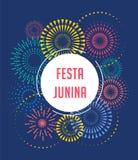 Festa Junina - Latijns-Amerikaans, Braziliaans Juni-Festival vector illustratie
