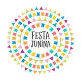 Festa Junina - Latijns-Amerikaans, Braziliaans Juni-Festival stock illustratie