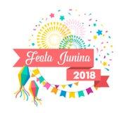 Festa Junina - Latin American, Brazilian June Festival. Holiday poster stock illustration