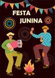 Festa Junina Latin - amerikansk ferie ocks? vektor f?r coreldrawillustration Id?mall f?r baner, affisch, kort, vykort och tryckba vektor illustrationer
