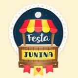 Festa Junina, logotipo bonito do fest de junho do brasileiro Foto de Stock