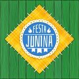 Festa Junina - (logotipo brasileiro do partido de junho) Foto de Stock Royalty Free