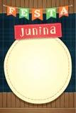 Festa Junina, mall för det brasilianjuni partiet eller inviterar - A5 stock illustrationer