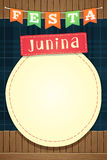 Festa Junina, molde do partido de junho do brasileiro ou convida - A5 Imagens de Stock