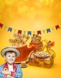 Festa Junina parti arkivbild