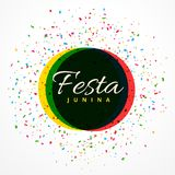 Festa junina party celebration background with confetti. Vector Stock Images