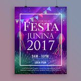 Festa junina party celebration flyer design with fireworks Stock Photos