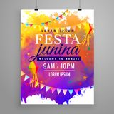 Festa junina party celebration invitation flyer design Royalty Free Stock Photo
