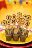 Festa Junina Party. Delicious sweets for the Brazilian Festa Junina Party stock image