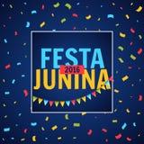 Festa junina party festival with confetti. Vector Royalty Free Stock Image