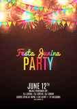 Festa junina party flyer Royalty Free Stock Photo