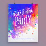 Festa junina party flyer template design Stock Image