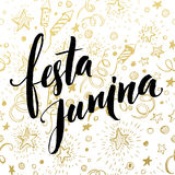 Festa Junina party greeting design. Vector illustration Royalty Free Stock Image