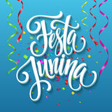 Festa Junina party greeting design. Vector illustration. EPS10 Stock Photography