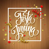 Festa Junina party greeting design. Vector illustration. EPS10 Royalty Free Stock Images