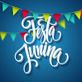 Festa Junina party greeting design. Vector illustration. EPS10 Stock Photos