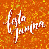 Festa Junina party greeting design. Vector illustration Stock Photo