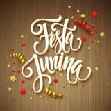 Festa Junina party greeting design. Vector illustration Royalty Free Stock Photos