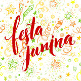 Festa Junina party greeting design. Vector illustration Stock Image
