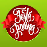 Festa Junina party greeting design. Vector illustration Royalty Free Stock Photography