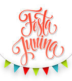 Festa Junina party greeting design. Vector illustration Stock Photos
