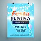 Festa junina party invitation background design template Royalty Free Stock Photo
