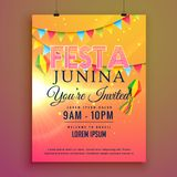 Festa junina party invitation flyer design Stock Photo